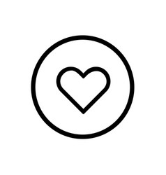 heart line icon on a white background vector image