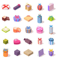 large set of different gift boxes vector image vector image