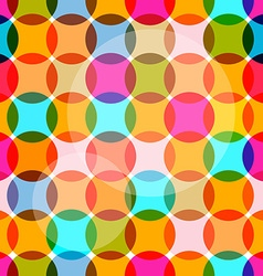 Seamless Circles Colorful Bubbles Pattern vector image vector image