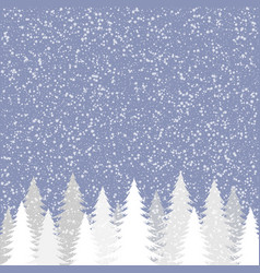 white snow background vector image vector image