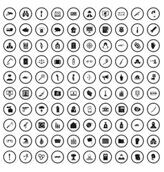 100 violation icons set simple style vector