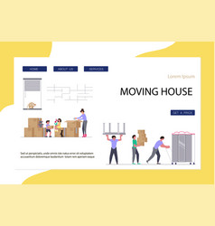 2moving home and office website vector image