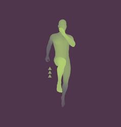 3d running man design for sport business science vector image