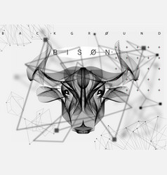 abstract animal poster bull vector image