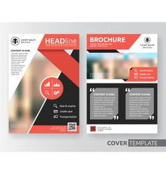 Abstract business and corporate cover design vector image