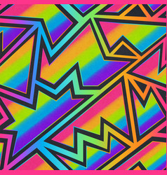 abstract rainbow geometric seamless pattern vector image