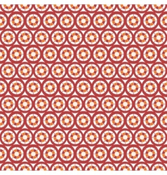 Abstract seamless circle and line pattern vector image