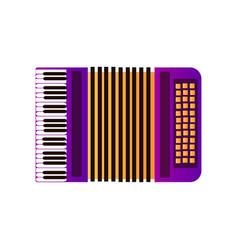 Accordion musical instrument vector