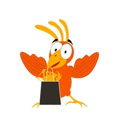 Animation a bird2 vector image