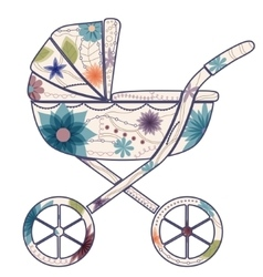 Baby carriage for boy vector image