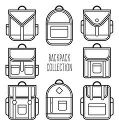 Backpack outline vector