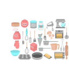 bakery icons set elements for your design vector image