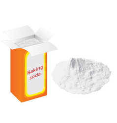 Baking soda in a paper bag vector