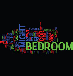 Bedroom furniture make your own personal vector