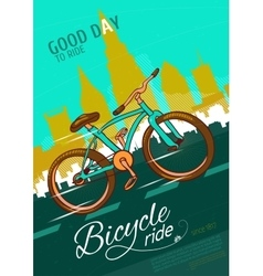Bicycle Ride Poster vector