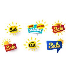 big set web banner summer sale summer vector image