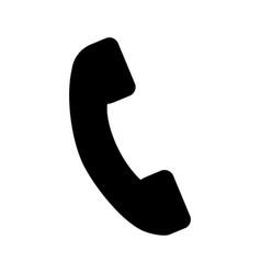 black icon phone cartoon vector image