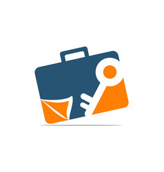 Briefcase key document vector