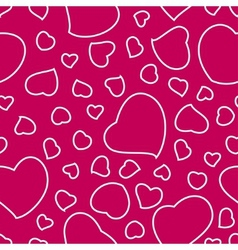 Bright Pink Valentines Day Seamless Pattern vector image