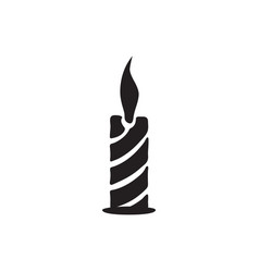 candle icon in flat style for apps ui websites vector image