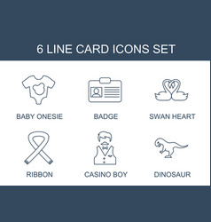 card icons vector image