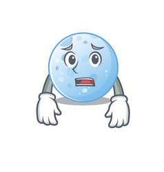Cartoon design blue moon showing worried face vector