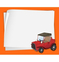 Cartoon Paper Space car vector image