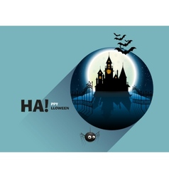 Castle horror on top of the mountain vector image