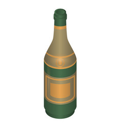 champagne bottle icon isometric style vector image
