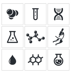 Chemistry icon collection vector