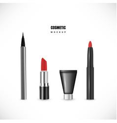 classic minimal makeup set vector image