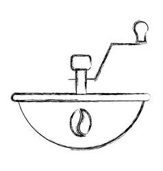 coffee grinder machine icon vector image