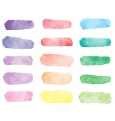 colorful rainbow watercolor wash splash vector image