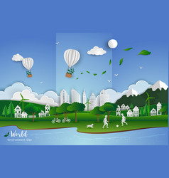 concept of eco friendly save the environment vector image