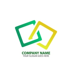 Cubical frame logo icon template vector