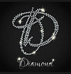 Diamonds on black denim vector