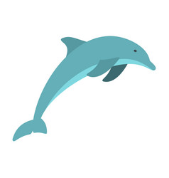 dolphin icon flat style vector image