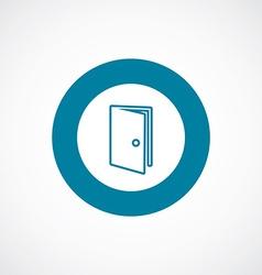 door icon bold blue circle border vector image