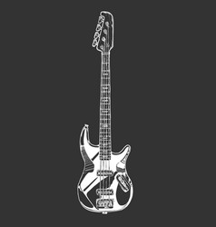 electric bass guitar vector image