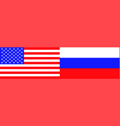 flags of the usa and russia vector image