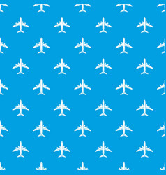 flying plane pattern seamless blue vector image
