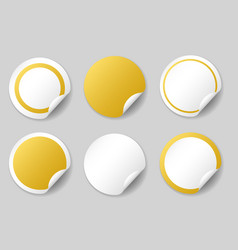 Gold circle price tags vector