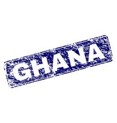 grunge ghana framed rounded rectangle stamp vector image
