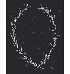 Hand drawn decorative laurel wreath vintage design vector