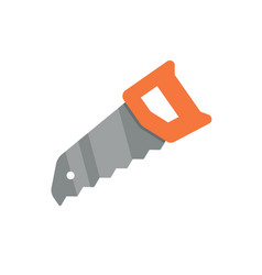 hand saw flat icon vector image