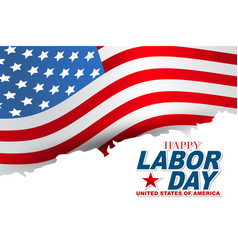 happy usa labor day background with typography vector image