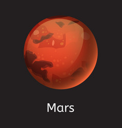 High quality space planet galaxy astronomy mars vector