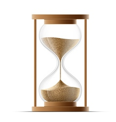 Hourglass isolated on white background vector