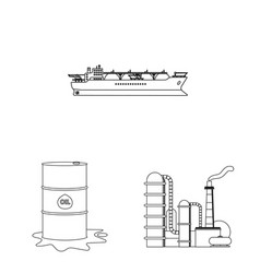 Isolated object of oil and gas logo collection of vector