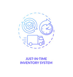 Just-in-time inventory system concept icon vector